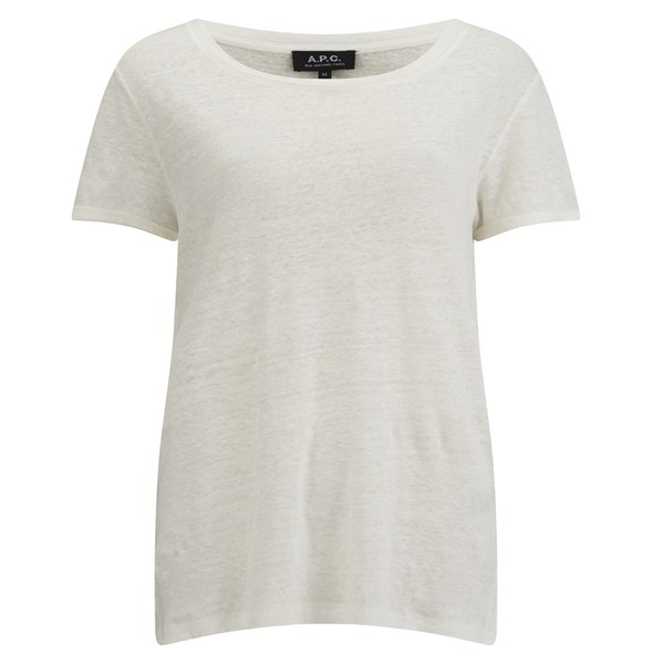 A p c women 39 s nico linen t shirt in natural lyst for Apc white t shirt