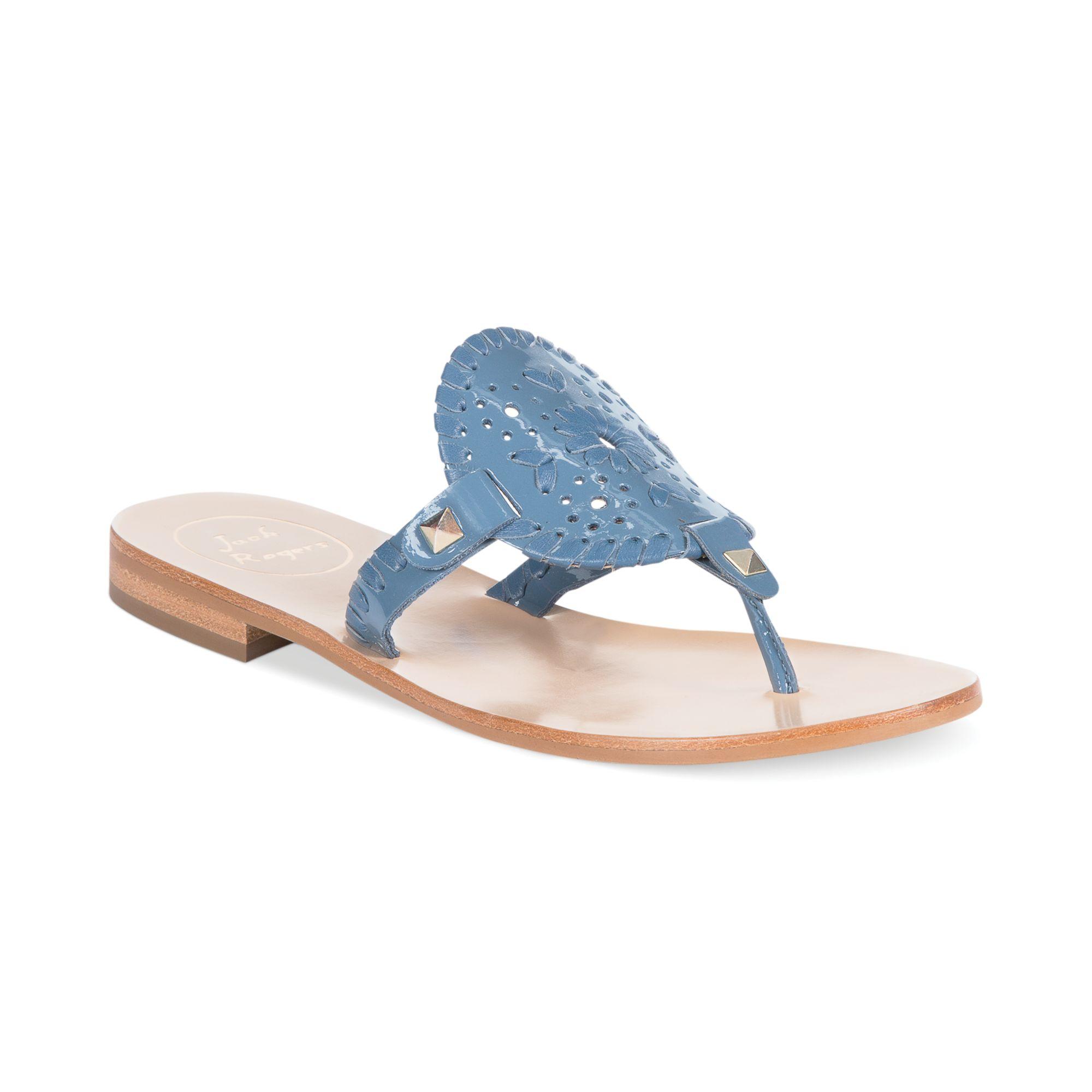 9cc57e90e949 Lyst - Jack Rogers Georgica Flat Thong Sandals in Blue