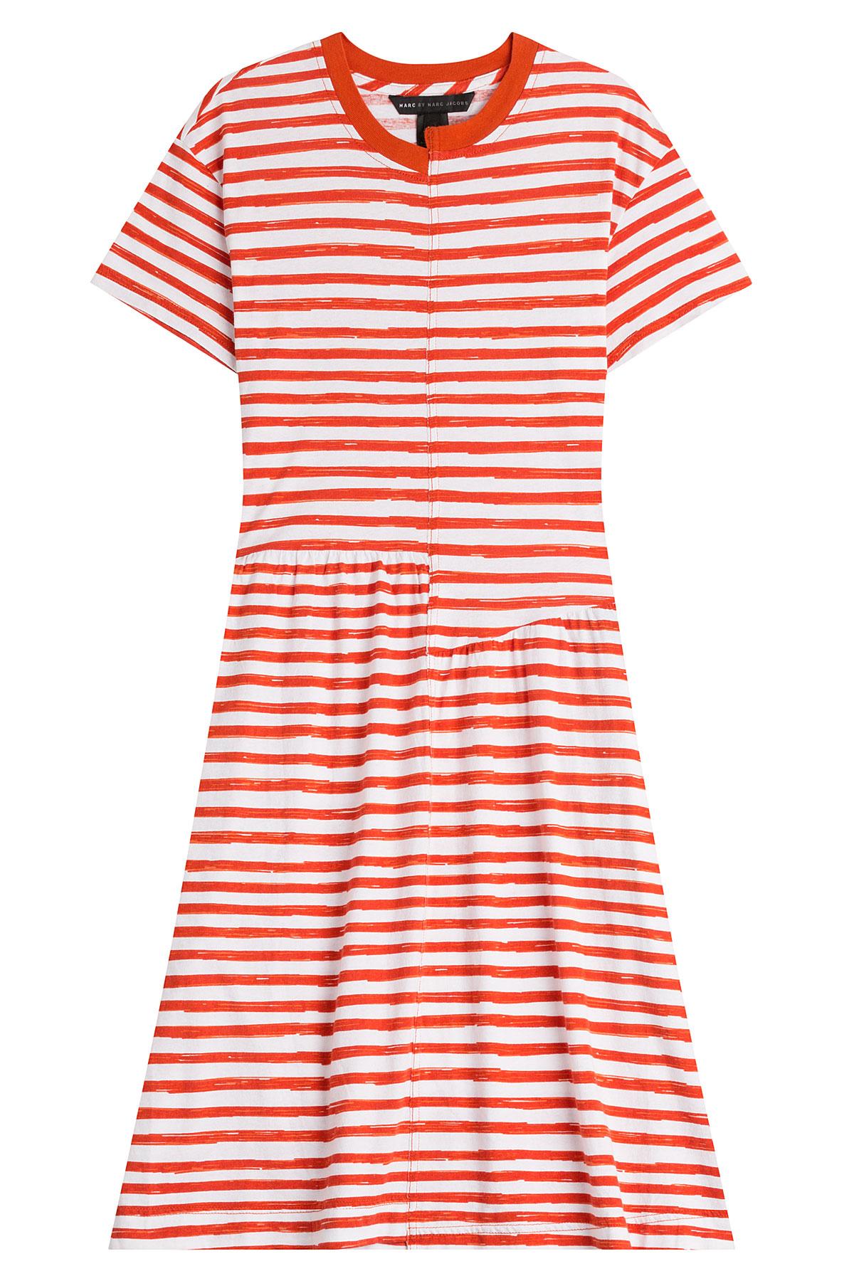 Striped cotton dress Marc Jacobs twF6SmCrn