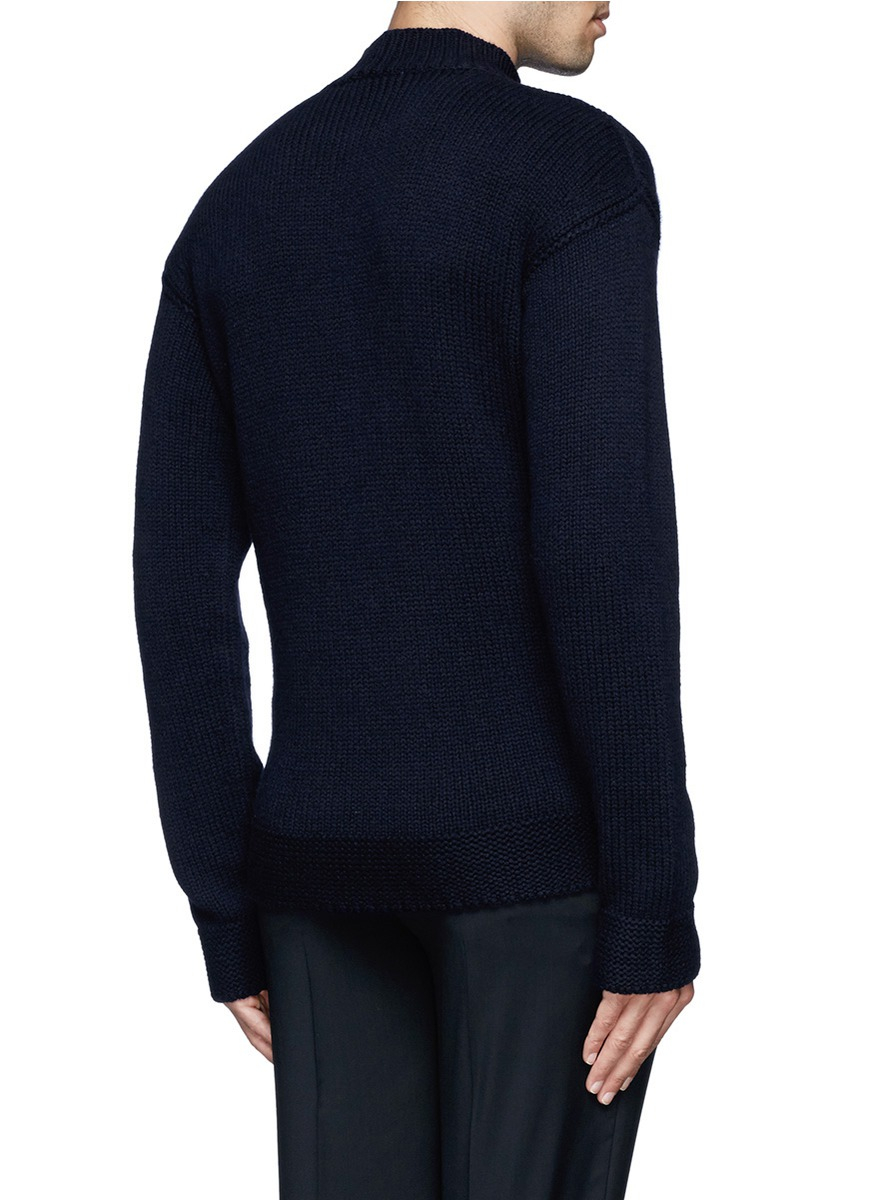 Lyst Fa 231 Onnable Anchor Chunky Knit Sweater In Blue For Men