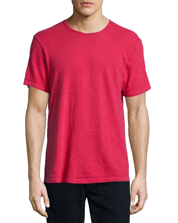 Rag bone short sleeve cotton t shirt in purple for men for Rag bone shirt