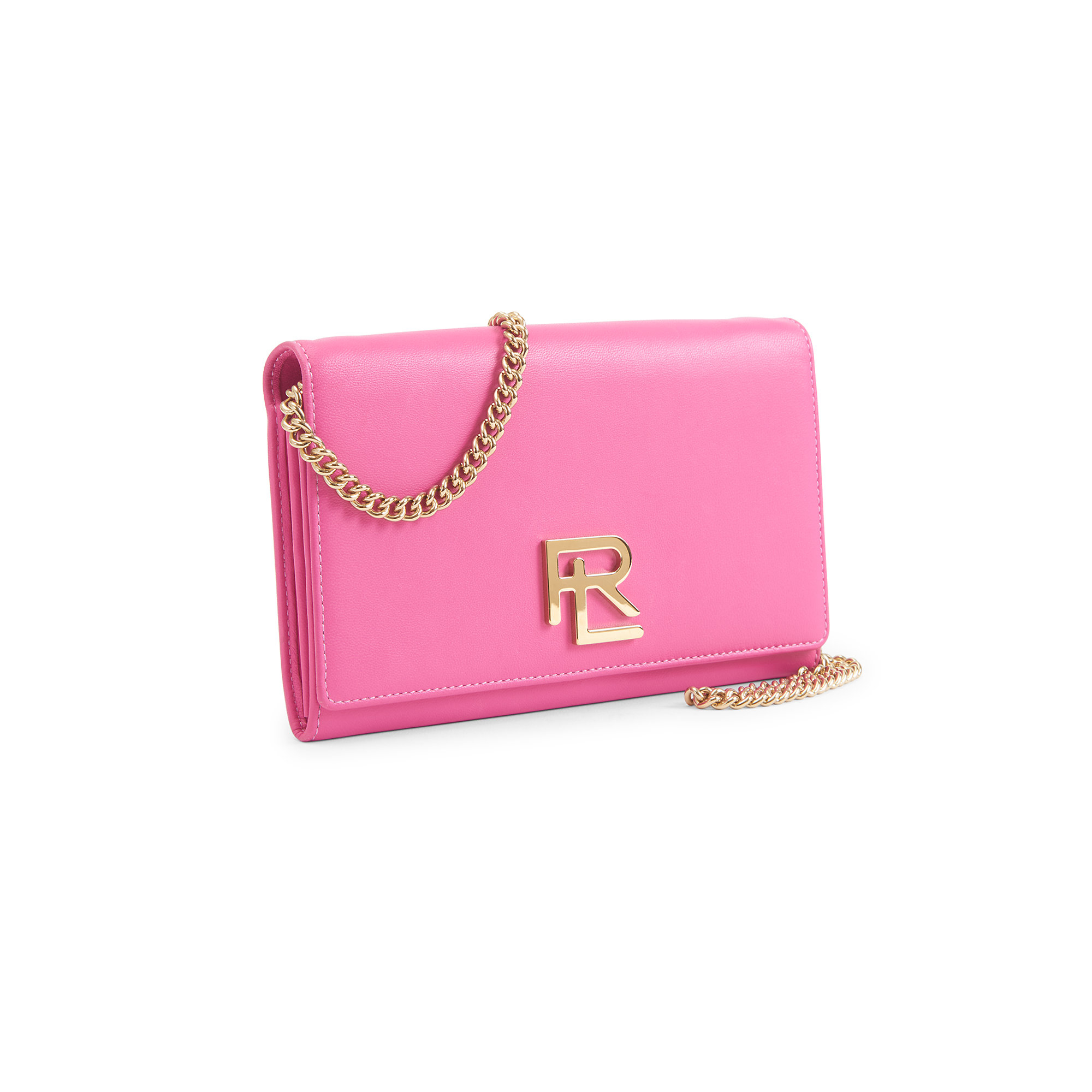 a783c9af29 Lyst - Ralph Lauren Rl Nappa Leather Chain Wallet in Pink