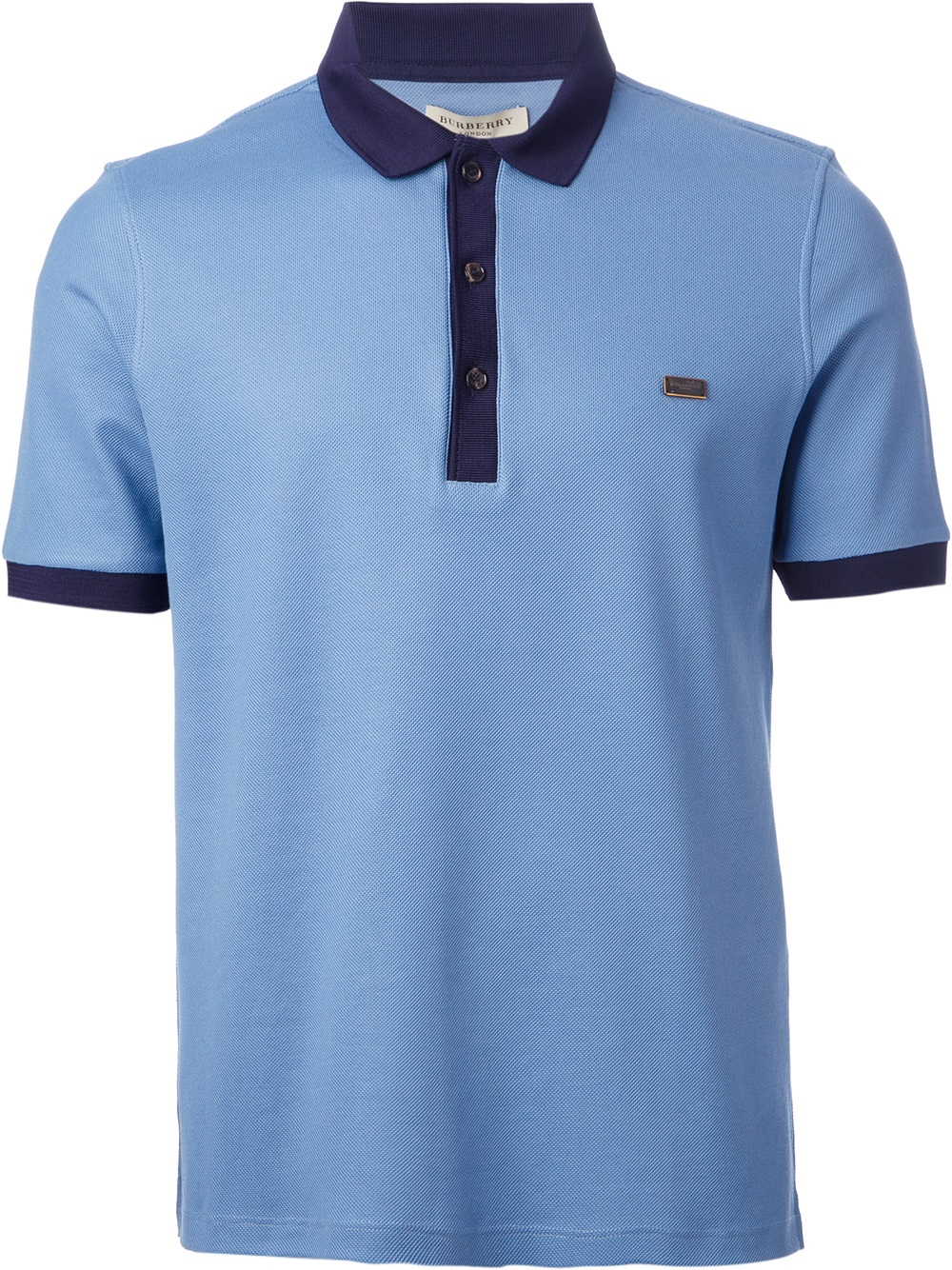 Lyst Burberry Contrast Collar Polo Shirt In Blue For Men