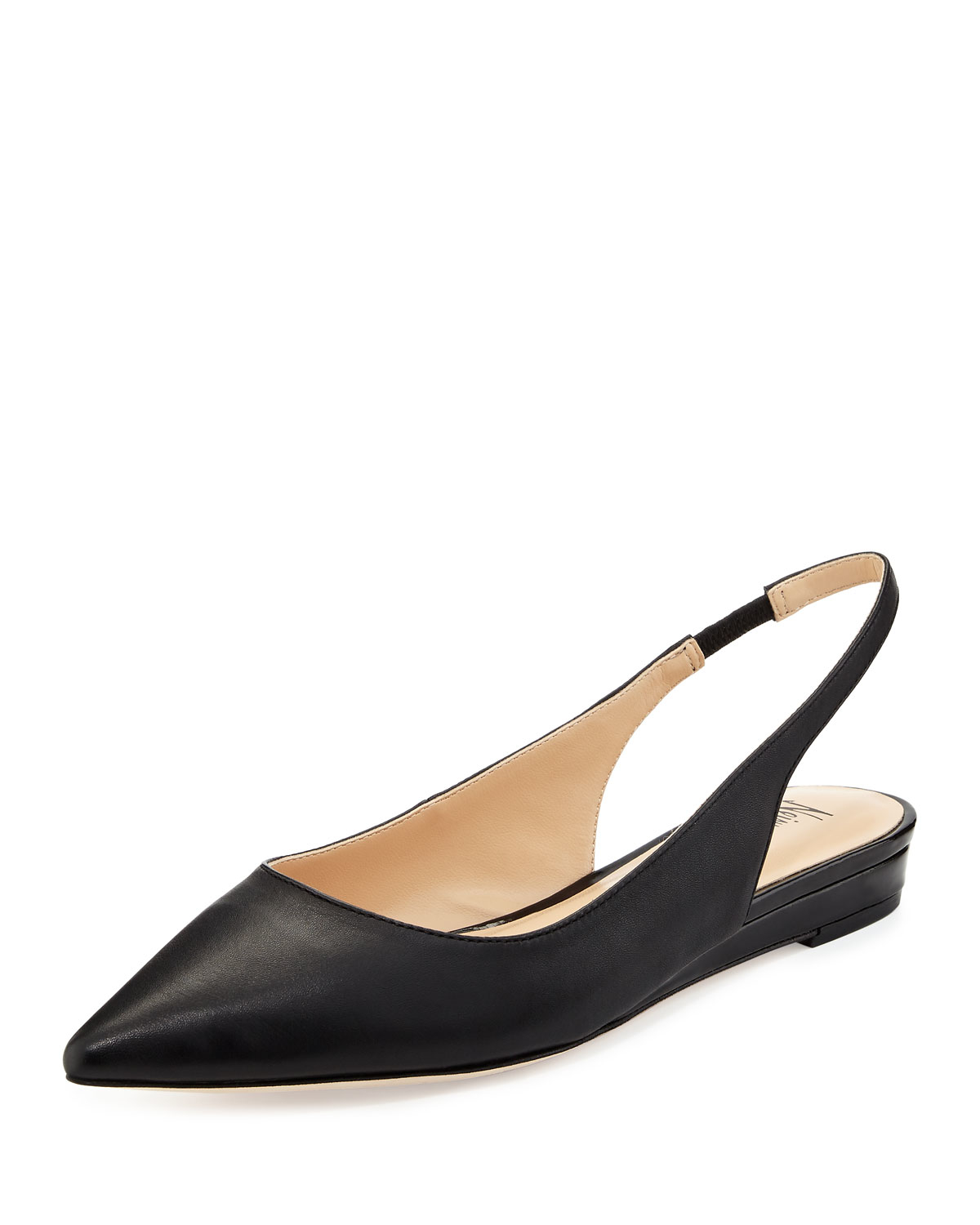Lyst Neiman Marcus Radman Leather Slingback Flat In Black