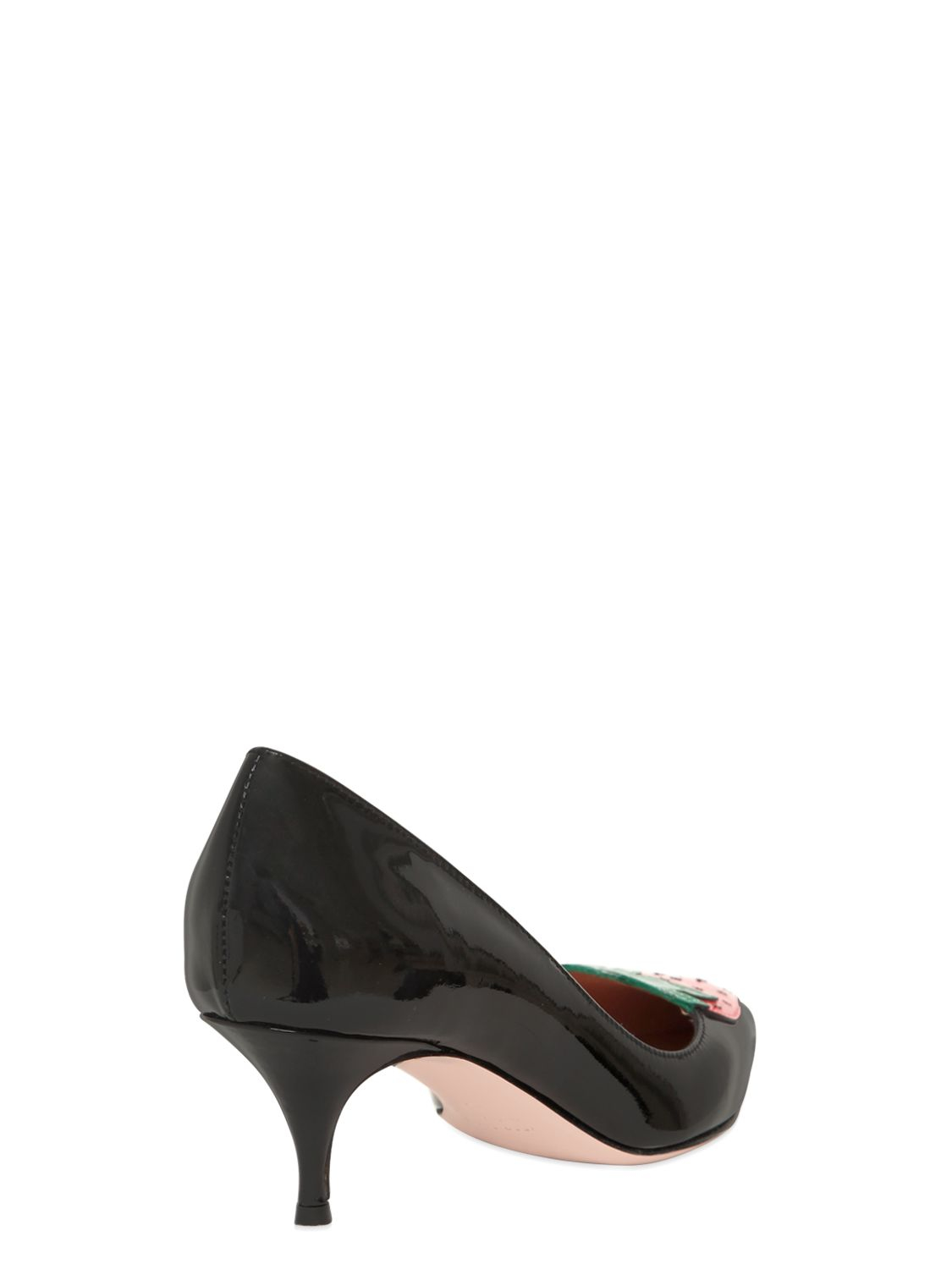 Red valentino 55mm Strawberry Patent Leather Pumps in Black | Lyst
