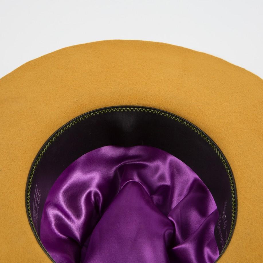 85471130 Paul Smith Mustard Wool Wide-Brim Fedora Hat in Yellow - Lyst