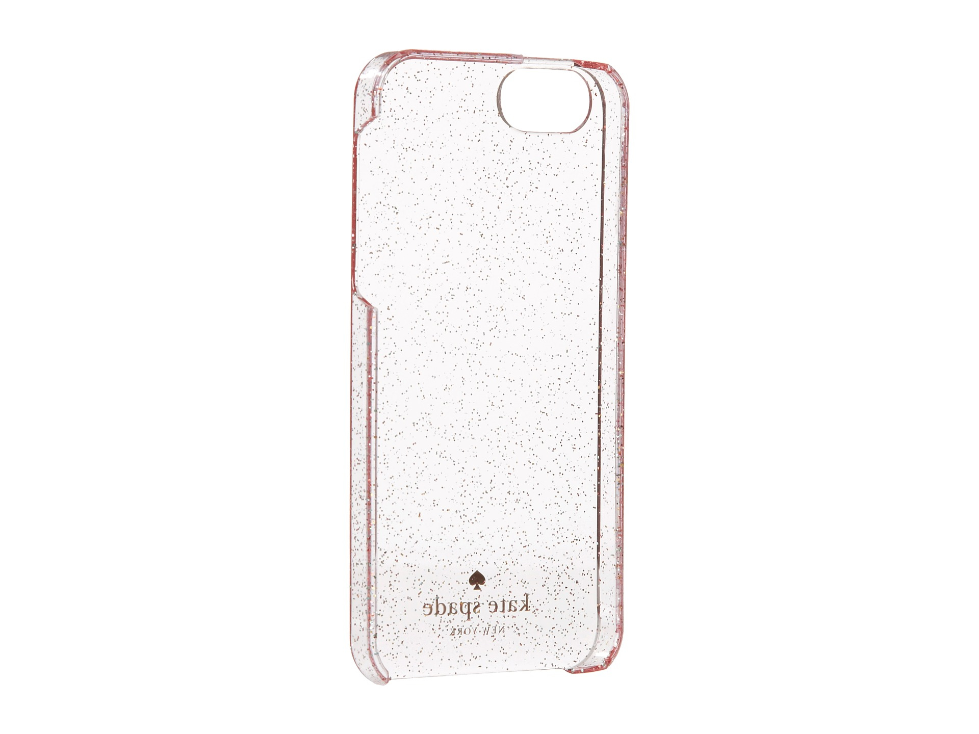 kate spade iphone 5 case lyst kate spade new york glitter clear resin iphone 174 5 10284