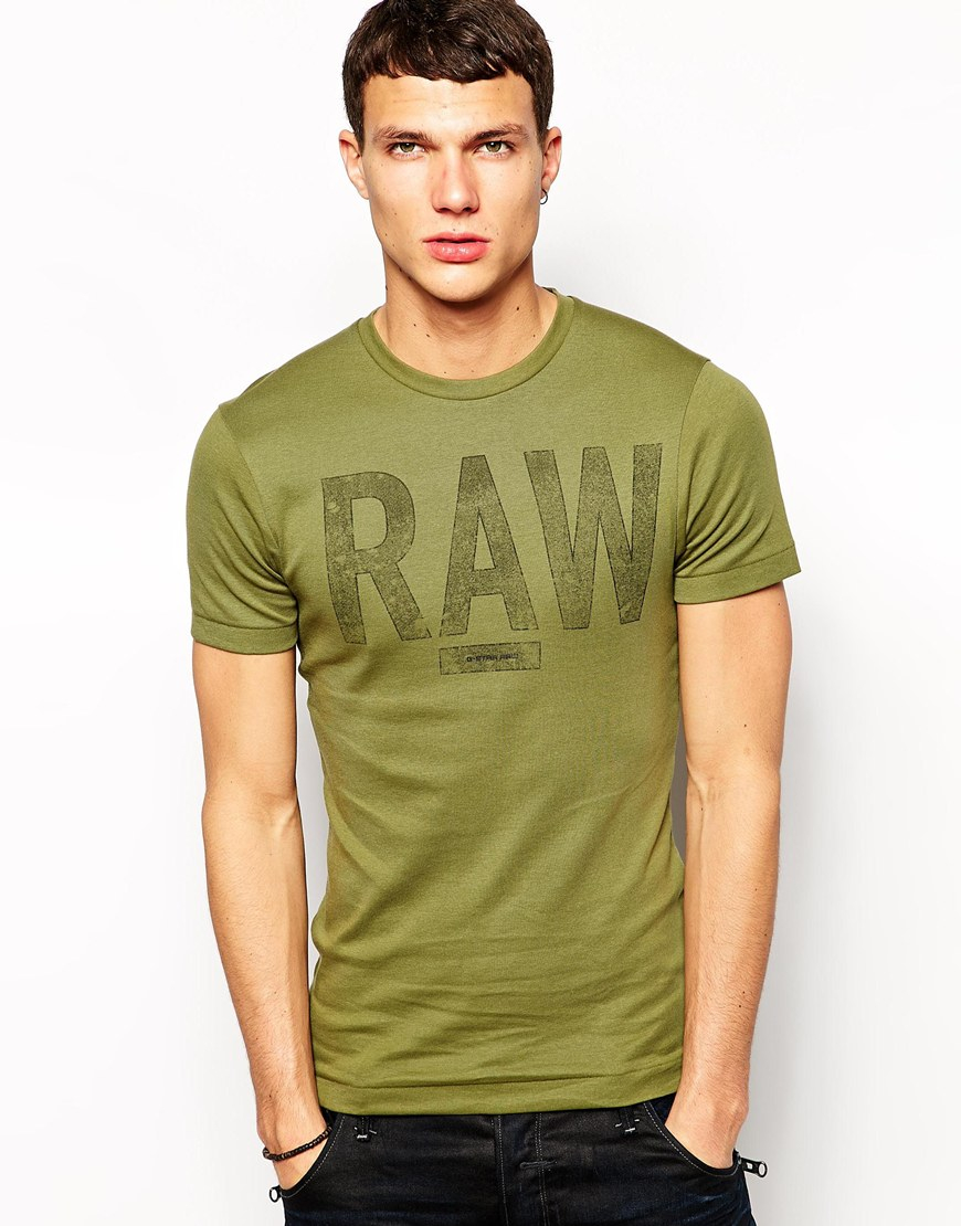 lyst g star raw g star t shirt terrams rib raw logo in. Black Bedroom Furniture Sets. Home Design Ideas