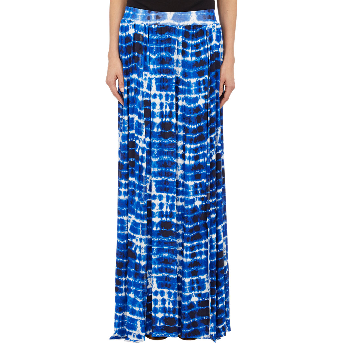 barneys new york tie dye maxi skirt in blue lyst