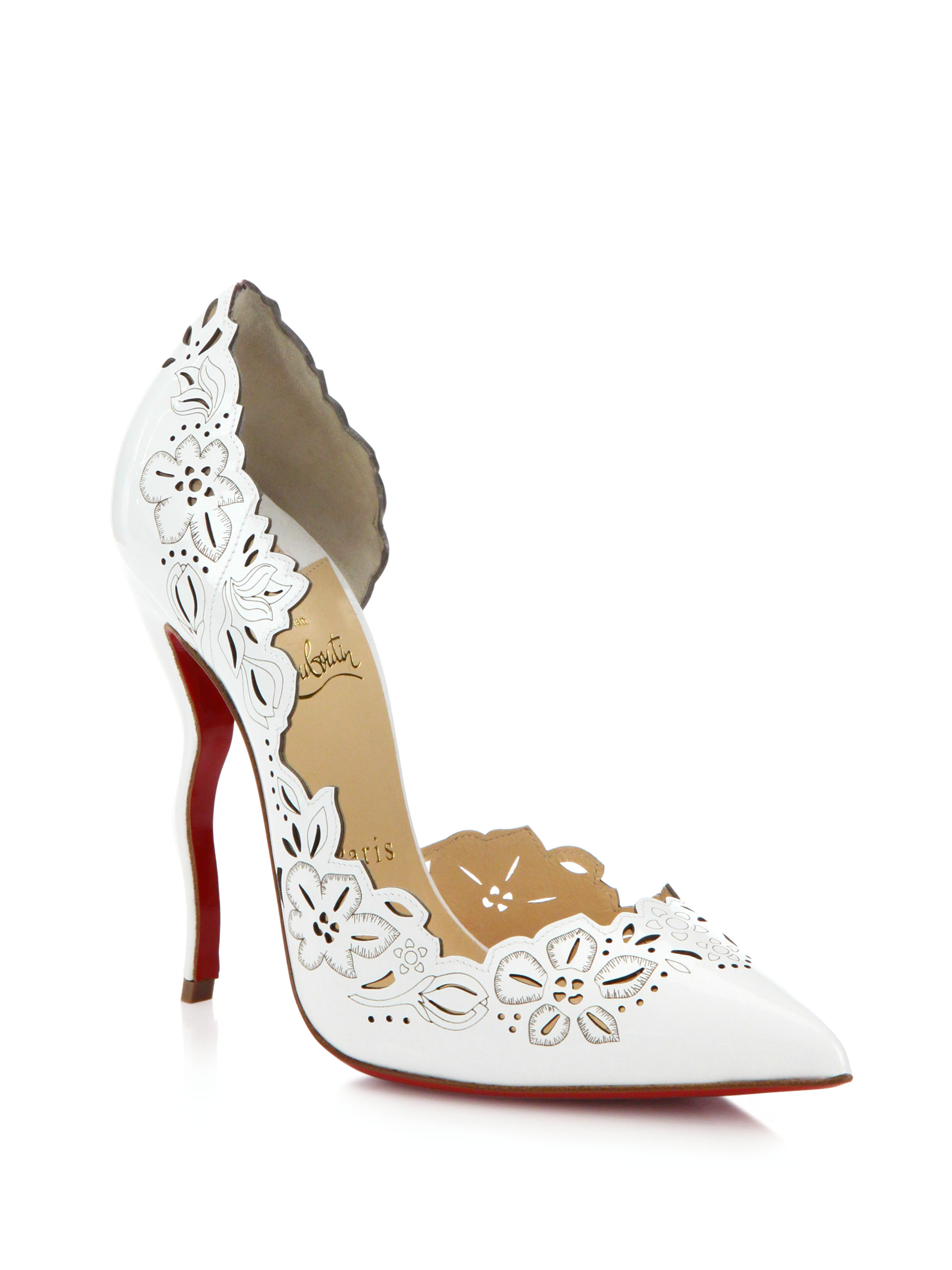 4ff5f12c006b sweden lyst christian louboutin beloved laser cut patent leather pumps in  dc80d 9b52b