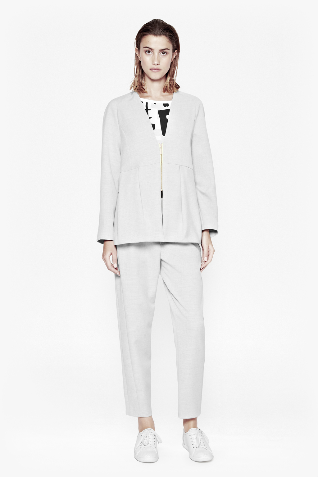 Lyst french connection ice cream sunday zip up jacket in gray - French intellectual property office ...