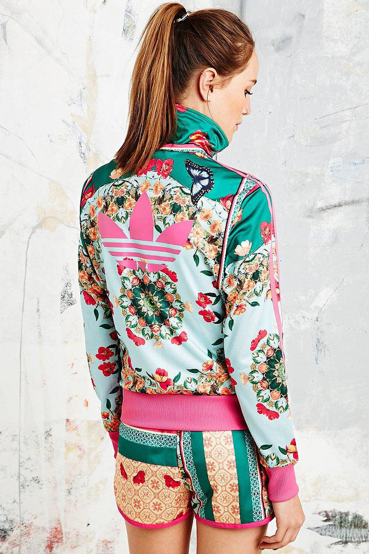 99bceb78fbf18 adidas X The Farm Company Borboflor Jacket in Floral Print - Lyst