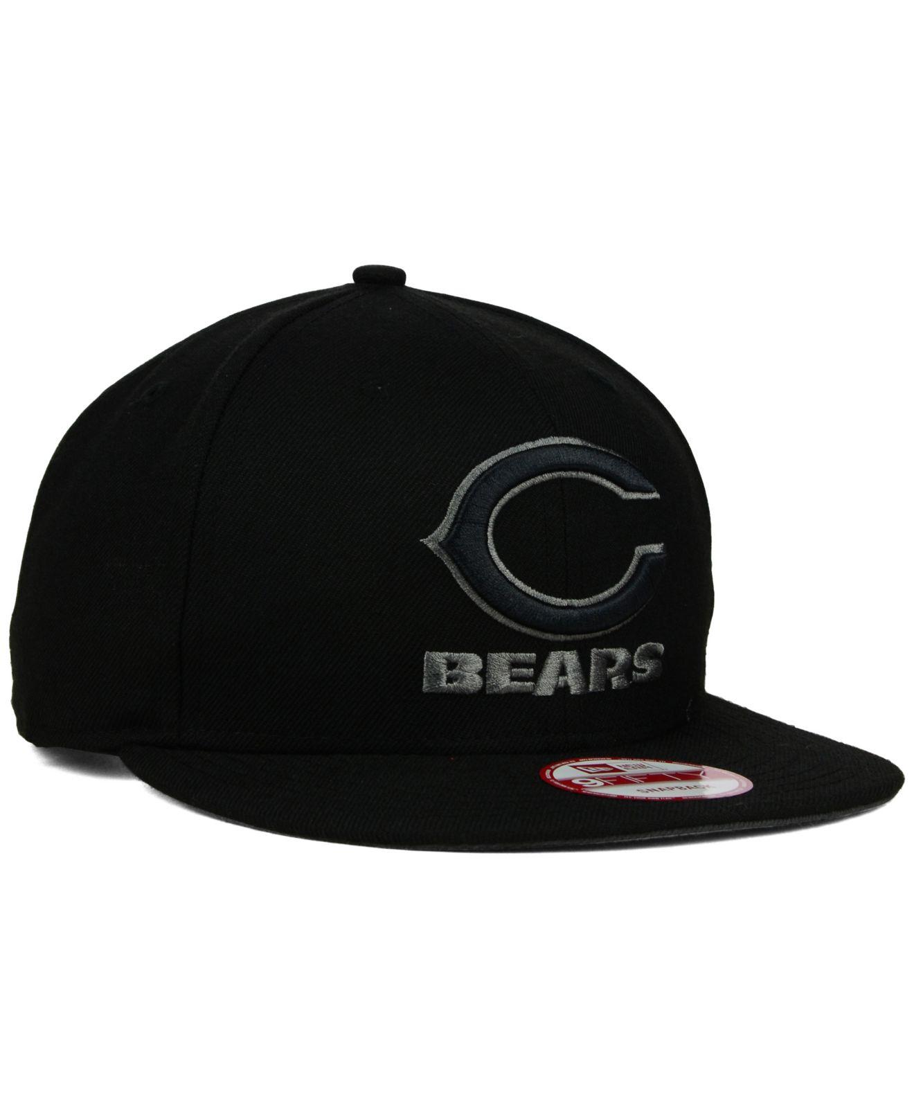 b03e5e1d1be Lyst - Ktz Chicago Bears Black Gray 59fifty Hat in Black for Men