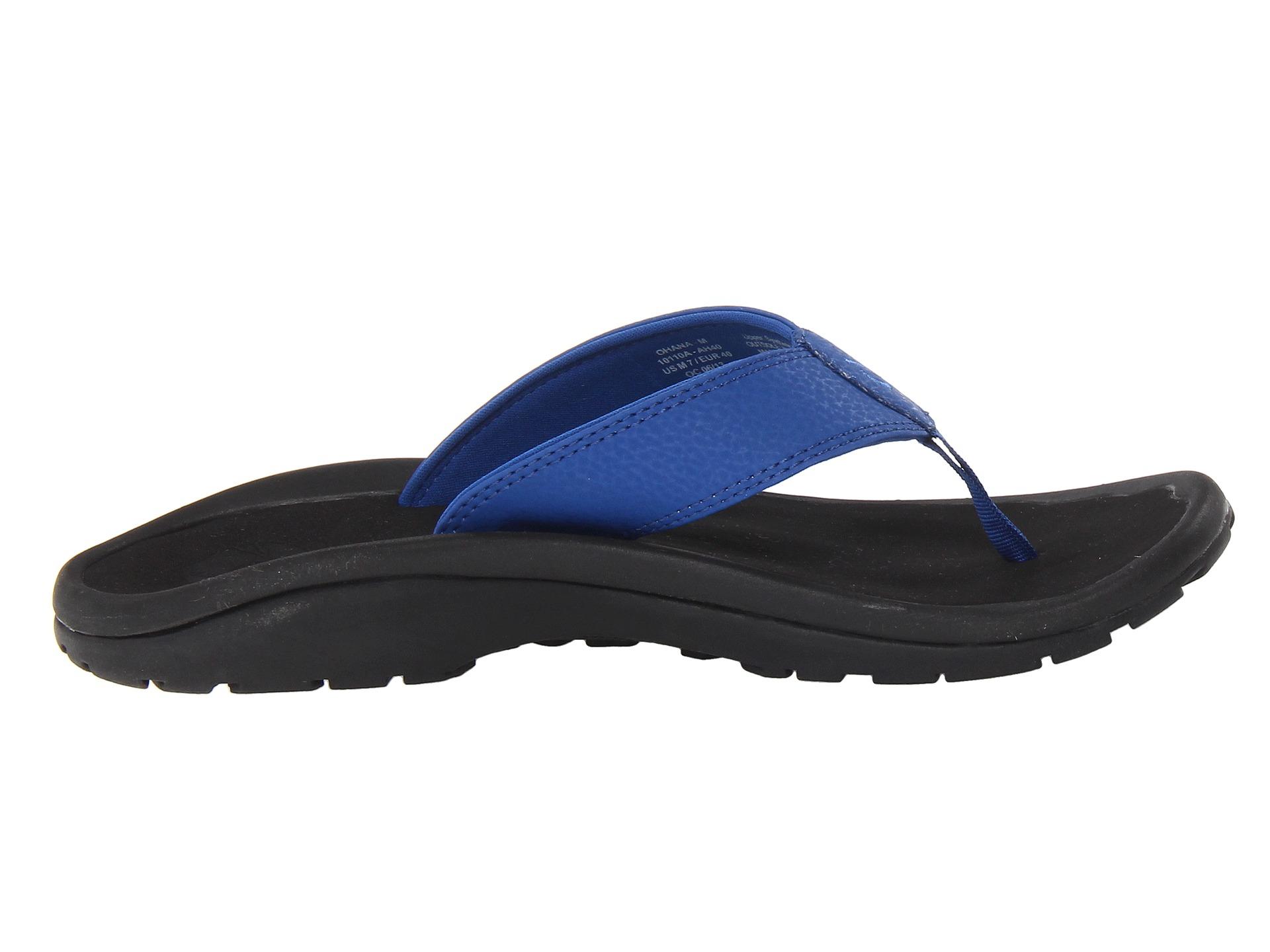 Olukai ʻohana Mens Thong Sandal In Blue For Men Lyst