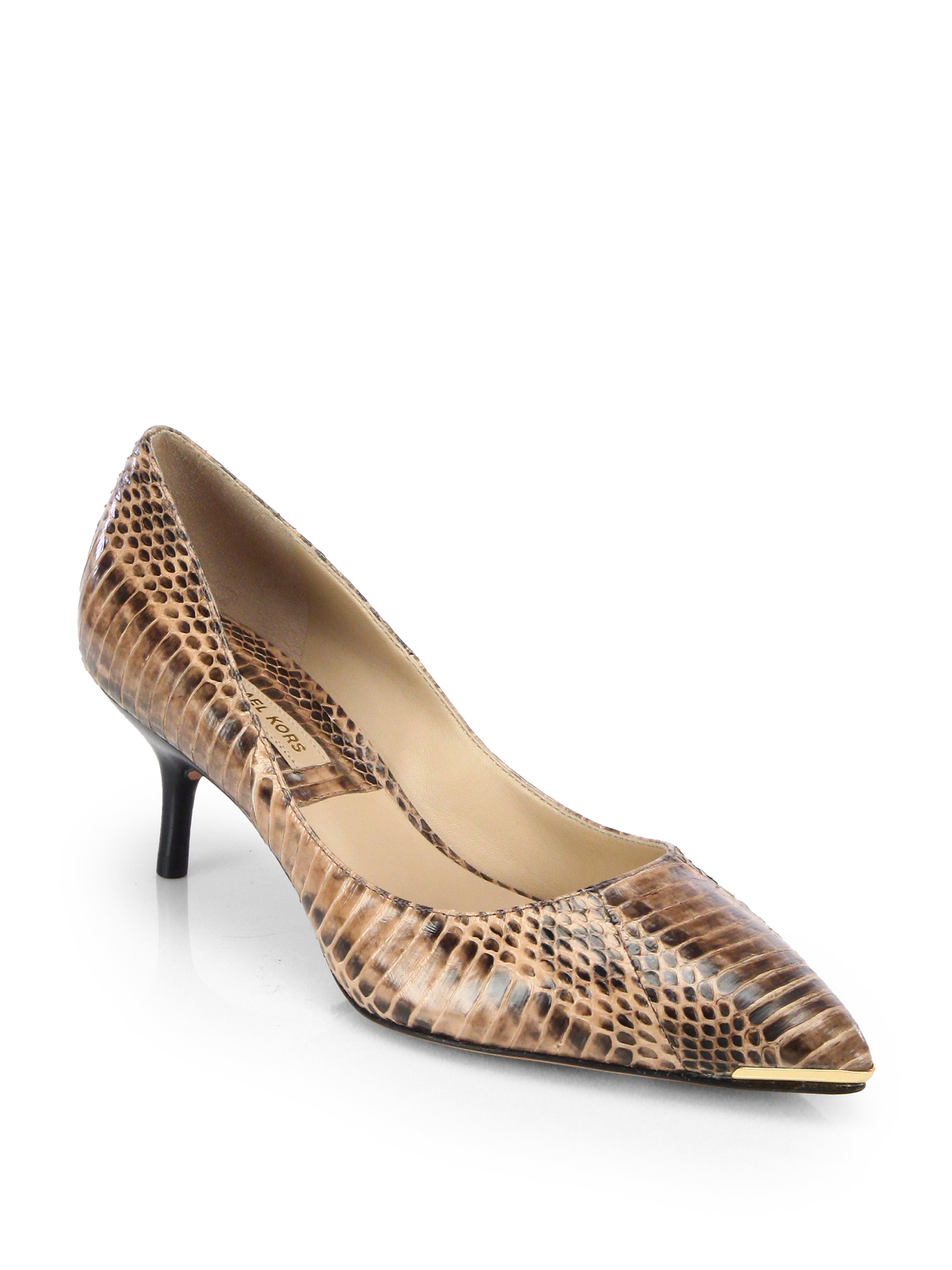 Brown Snakeskin Shoes For Women