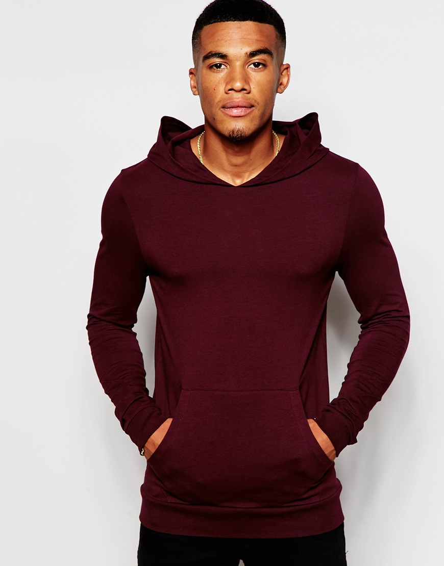 22399d23 ASOS Extreme Muscle Fit Hoodie In Lightweight Stretch Jersey in ...