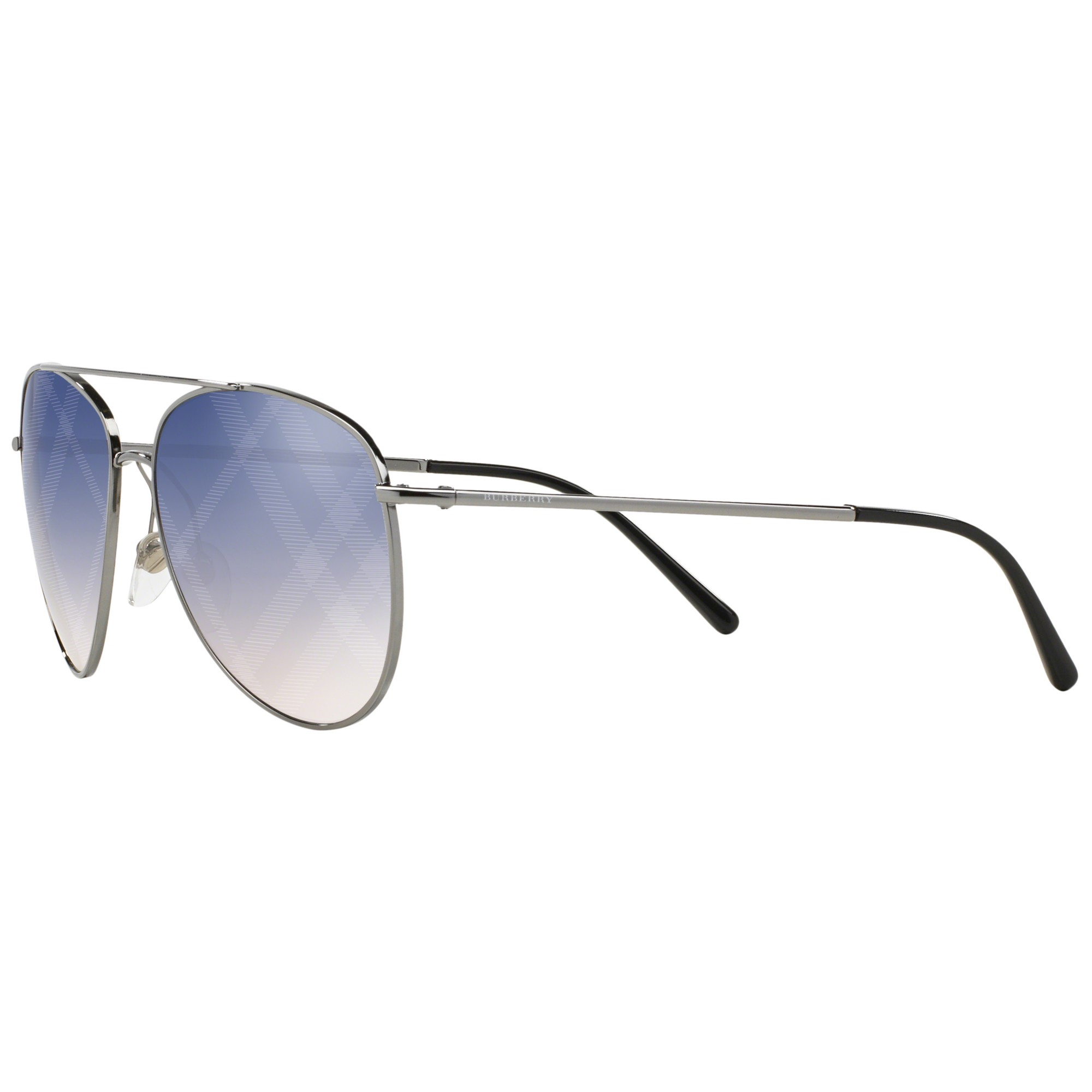 940573ef36fe Burberry Be3072 Aviator Sunglasses in Blue - Lyst