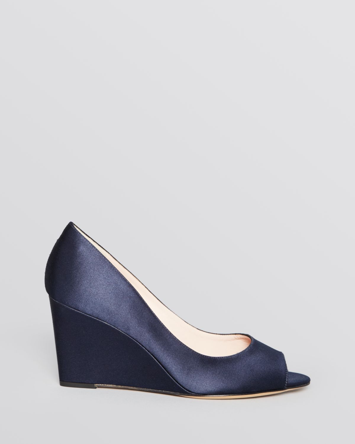 54e77c71ef3 Lyst kate spade peep toe wedge evening pumps radiant navy in blue jpg  1200x1500 Navy blue