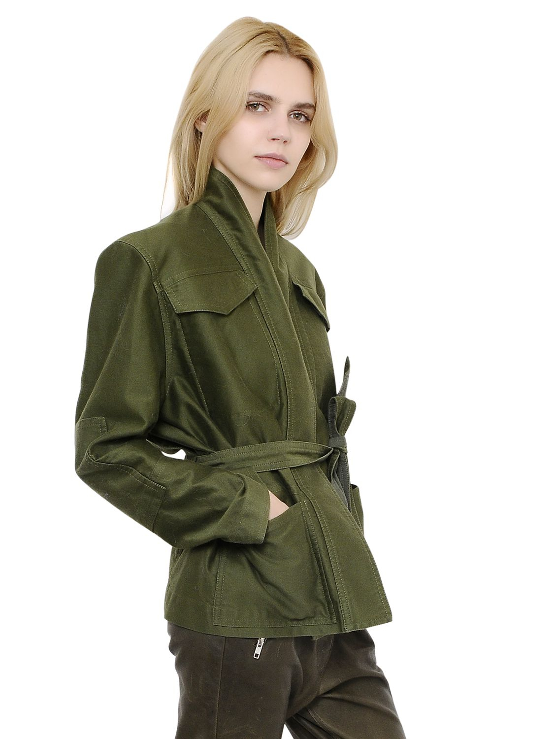 Isabel marant Cotton Sateen Military Jacket in Natural | Lyst