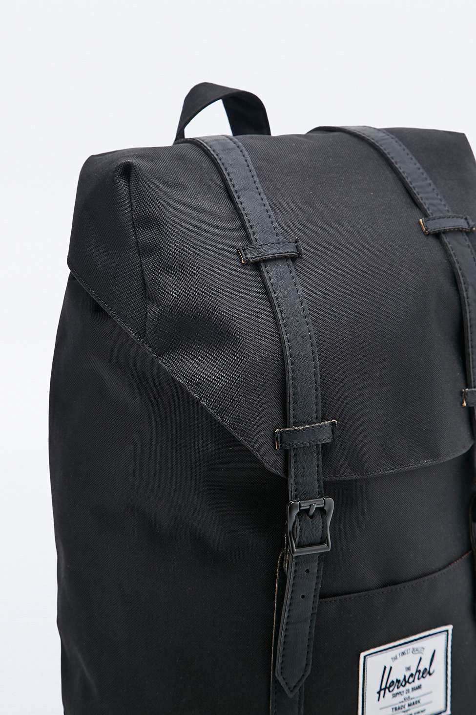 Herschel Supply Co. Retreat Black Backpack in Black - Lyst 3c8f8e15bd5bc