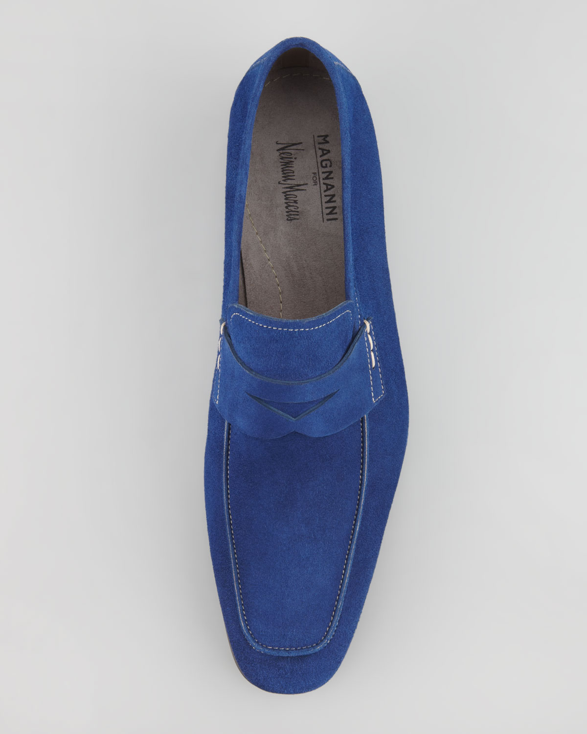 4694f267a6f Lyst - Neiman Marcus Suede Penny Loafer Royal Blue in Blue for Men