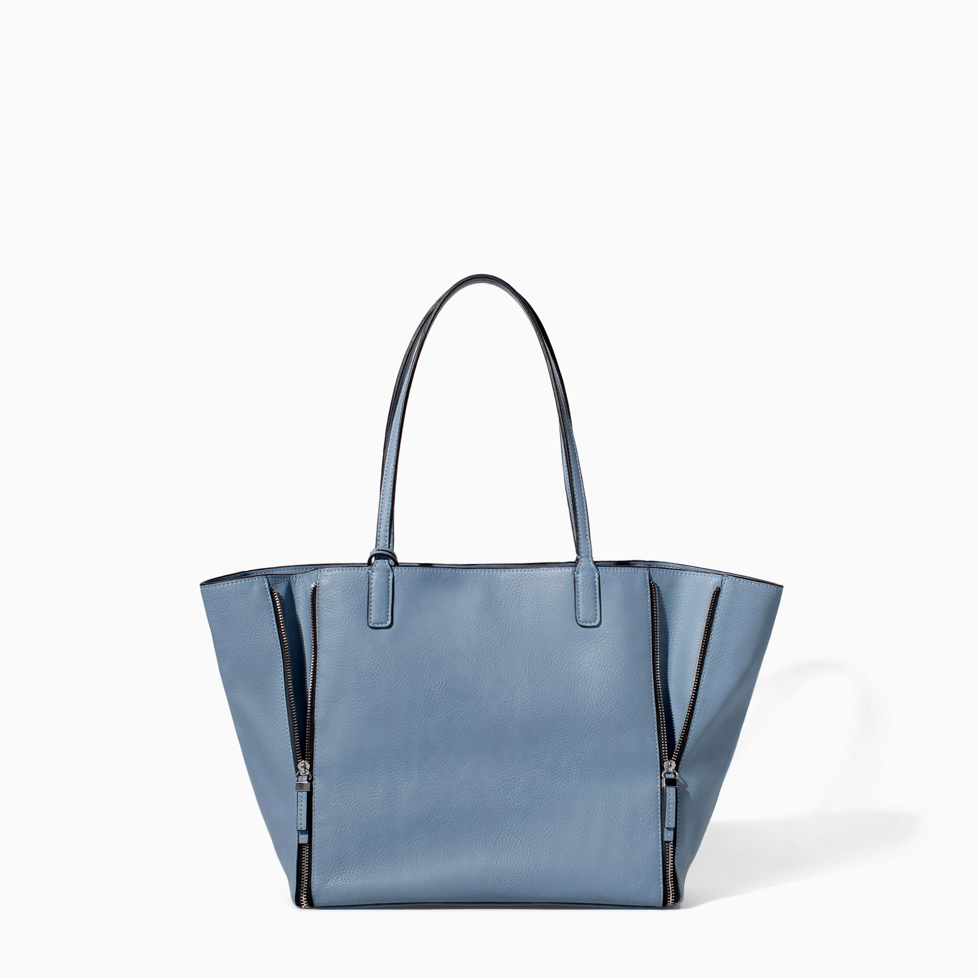 Zara Combined Shopper Bag in Blue (Jeans)
