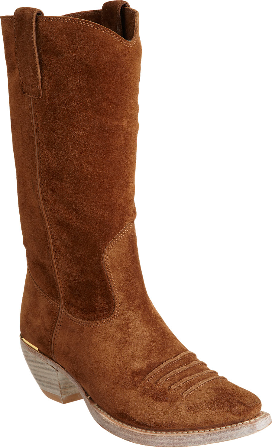 Miu Miu Point Toe Cowboy Boot In Brown Gold Lyst