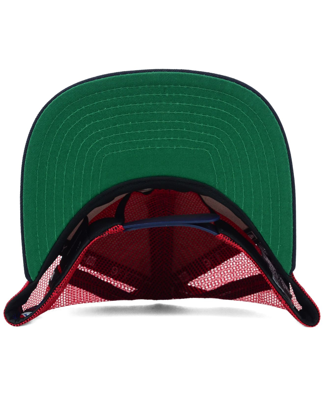 f524ea7a5d9dc4 KTZ Boston Red Sox Trucker A-frame 9fifty Snapback Cap in Blue for Men -  Lyst