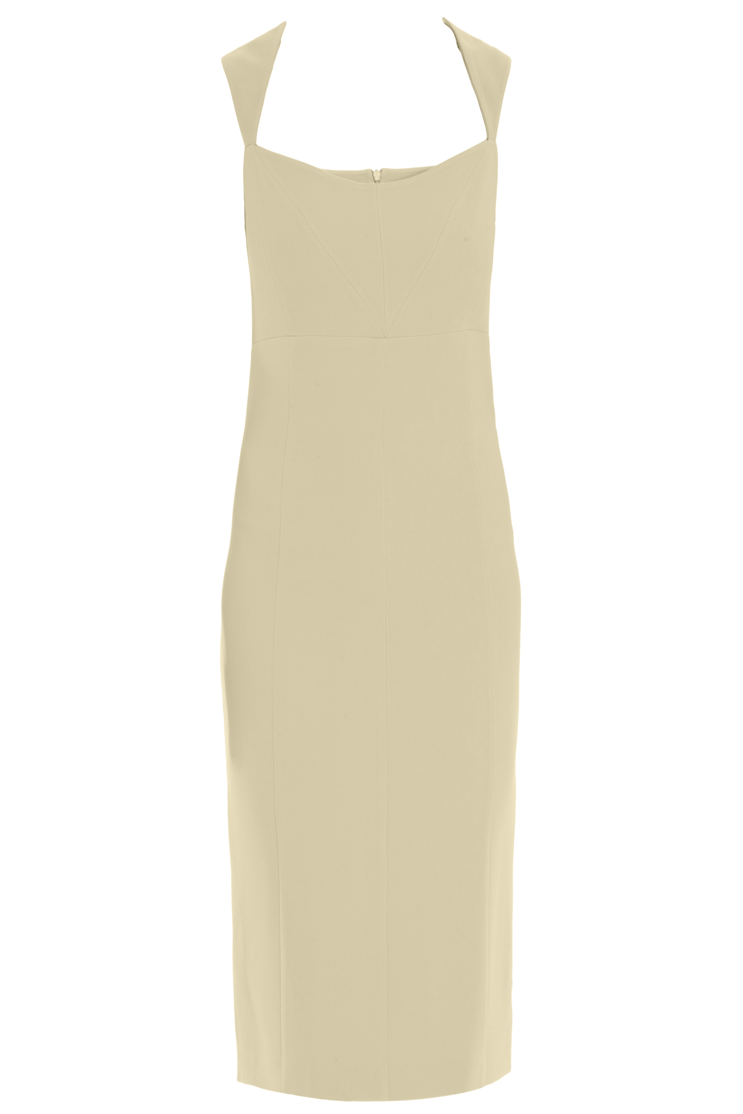 Lyst Safiyaa Wide Strap Cocktail Dress In Yellow