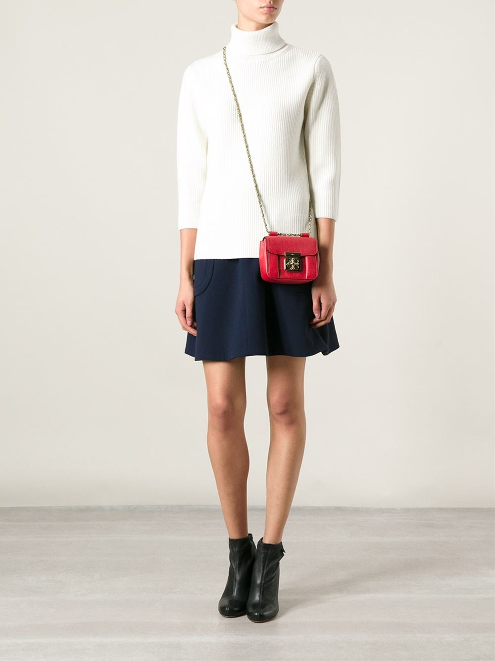 Chlo¨¦ \u0026#39;Elsie\u0026#39; Crossbody Bag in Red | Lyst