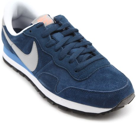 Nike Pegasus 83 Navy Suede Sneakers in Blue for Men (navy