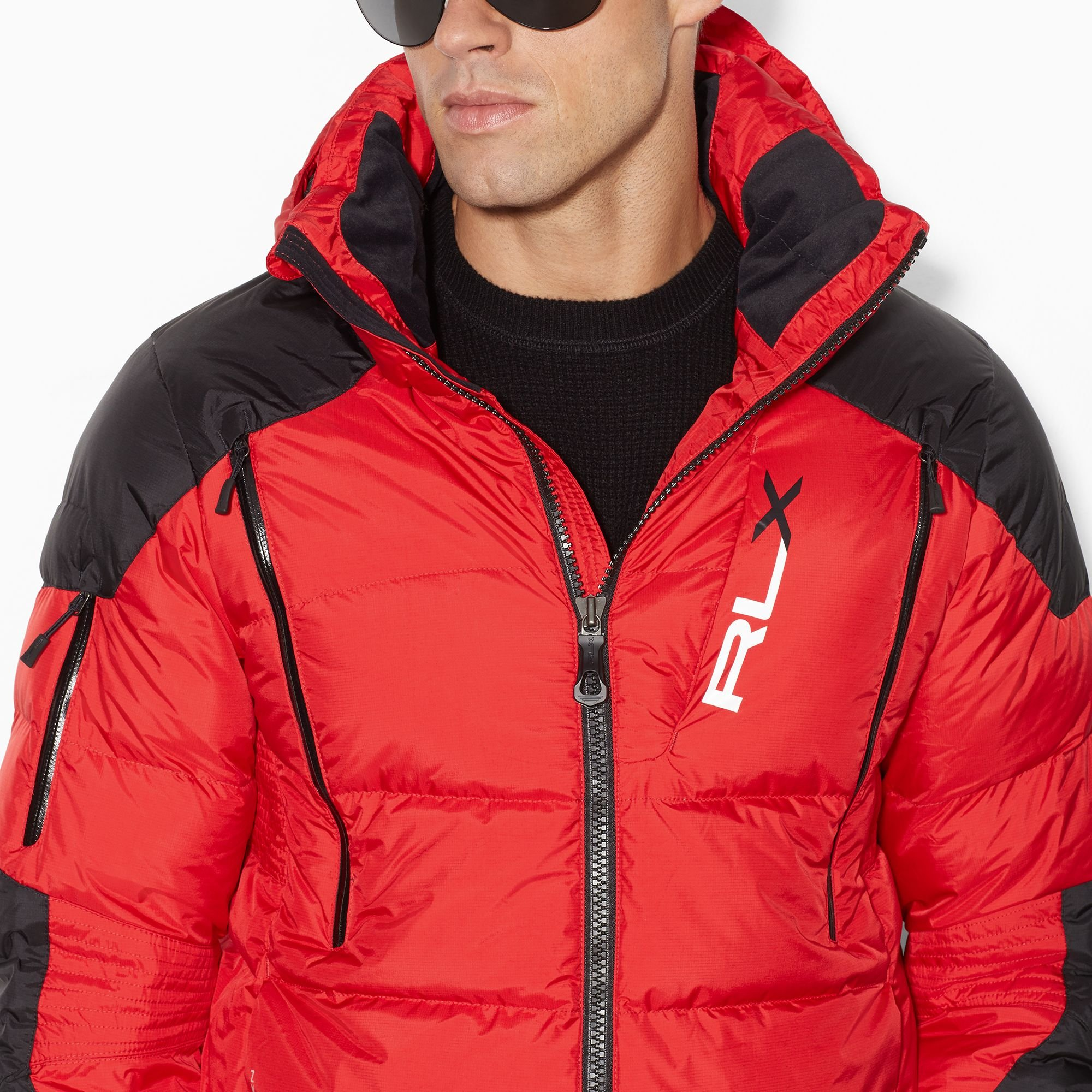 Rlx Ralph Lauren Quilted Down Hooded Jacket In Red For Men