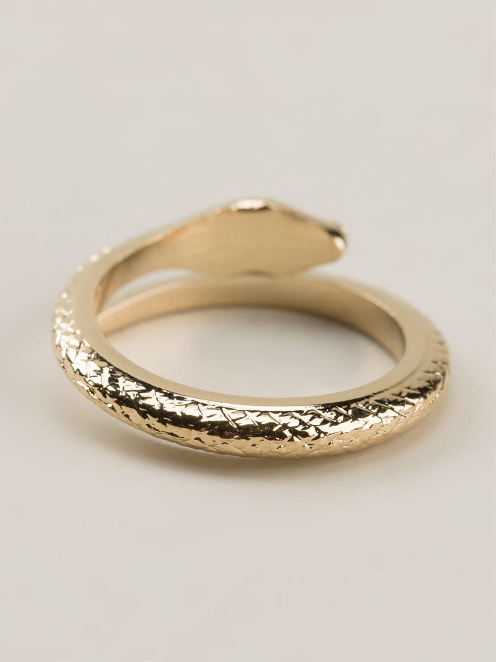 Lyst Isabel Marant Snake Ring in Metallic
