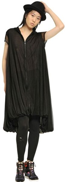 Black Bubble Dress Zip Bubble Dress in Black