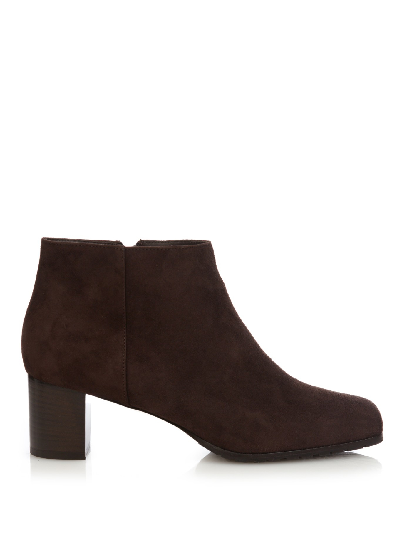 max mara struzzo suede ankle boots in brown lyst
