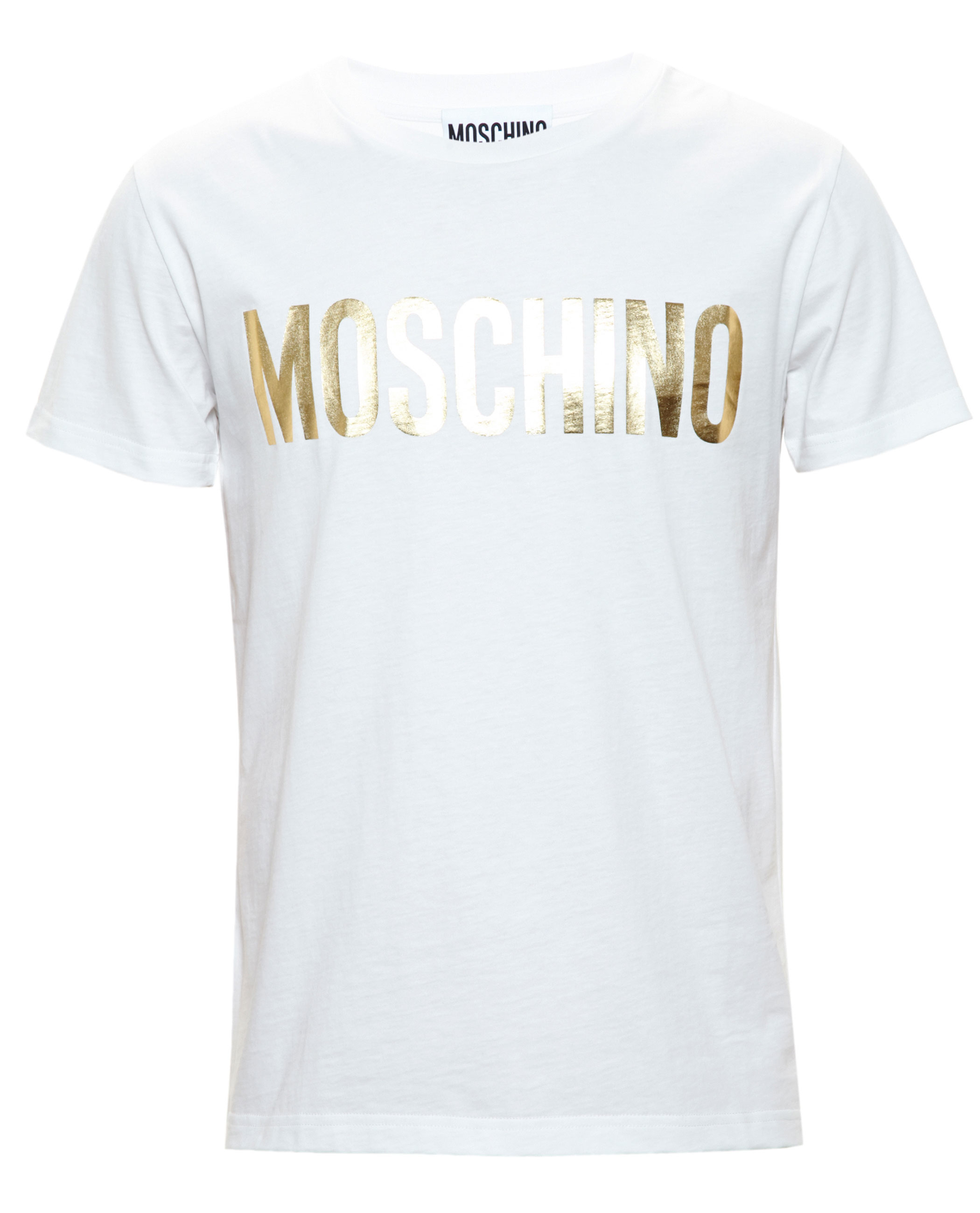 moschino logo t shirt in white for men lyst. Black Bedroom Furniture Sets. Home Design Ideas
