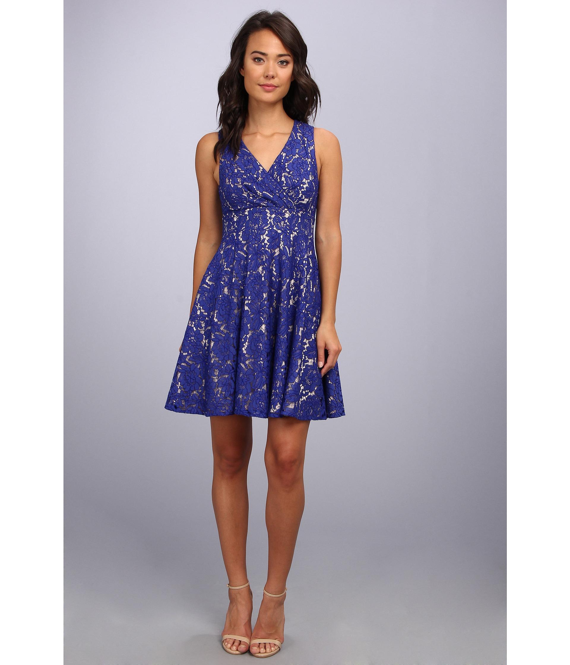 Eliza j blue dress lace