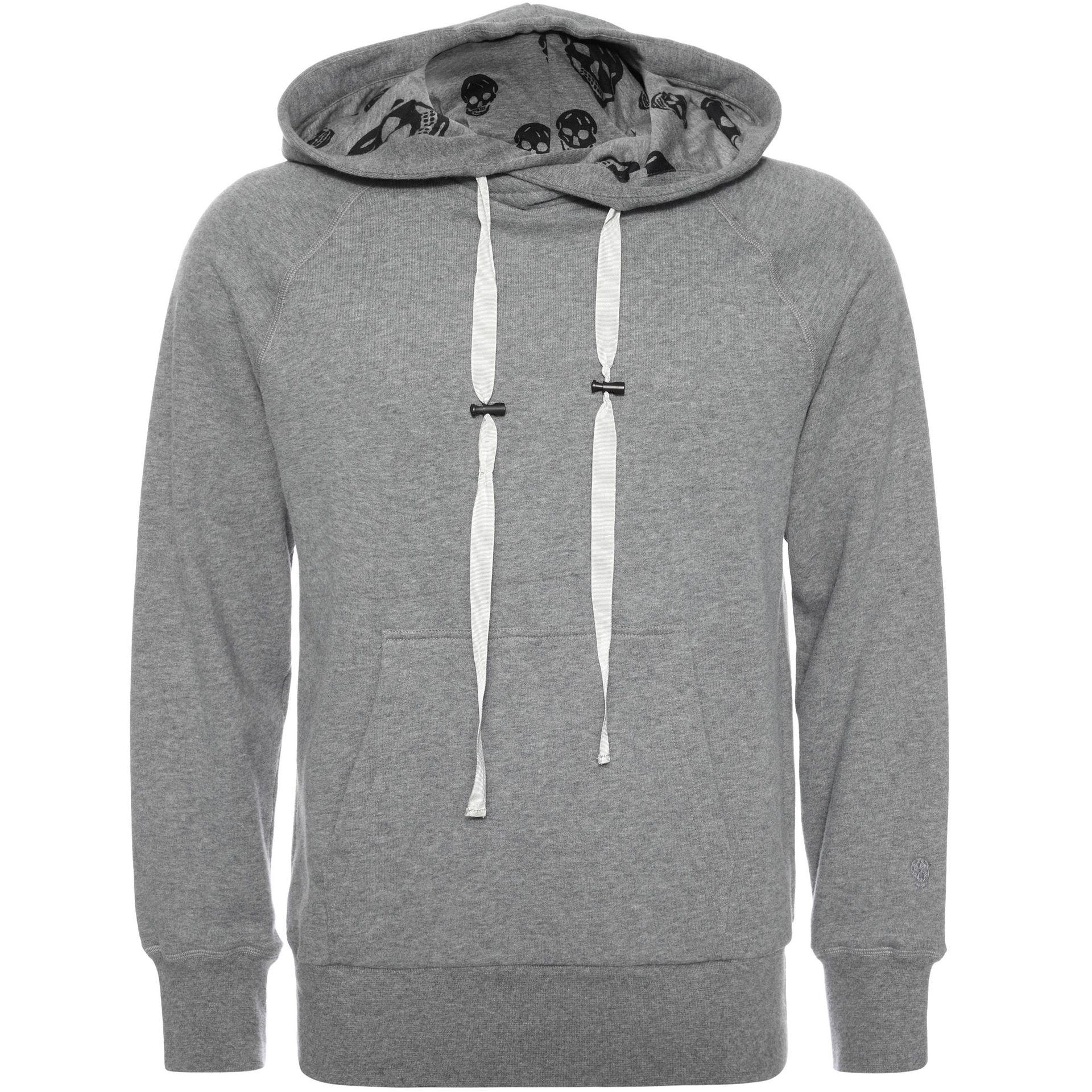 alexander mcqueen hooded sweatshirt in gray for men lyst. Black Bedroom Furniture Sets. Home Design Ideas