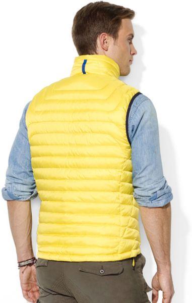 Ralph Lauren Polo Rlx Waterresistant Down Vest In Yellow