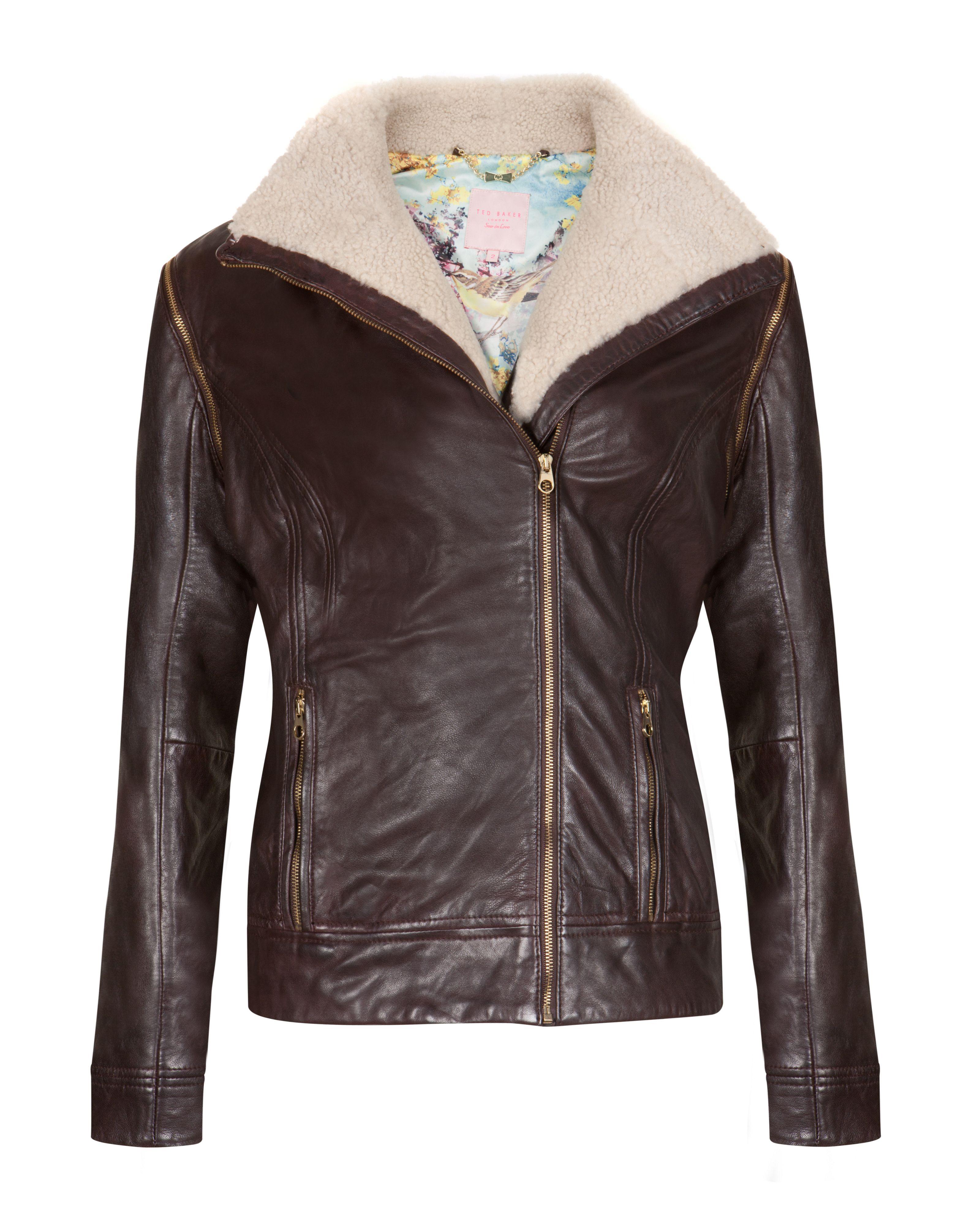 Leather jacket ted baker