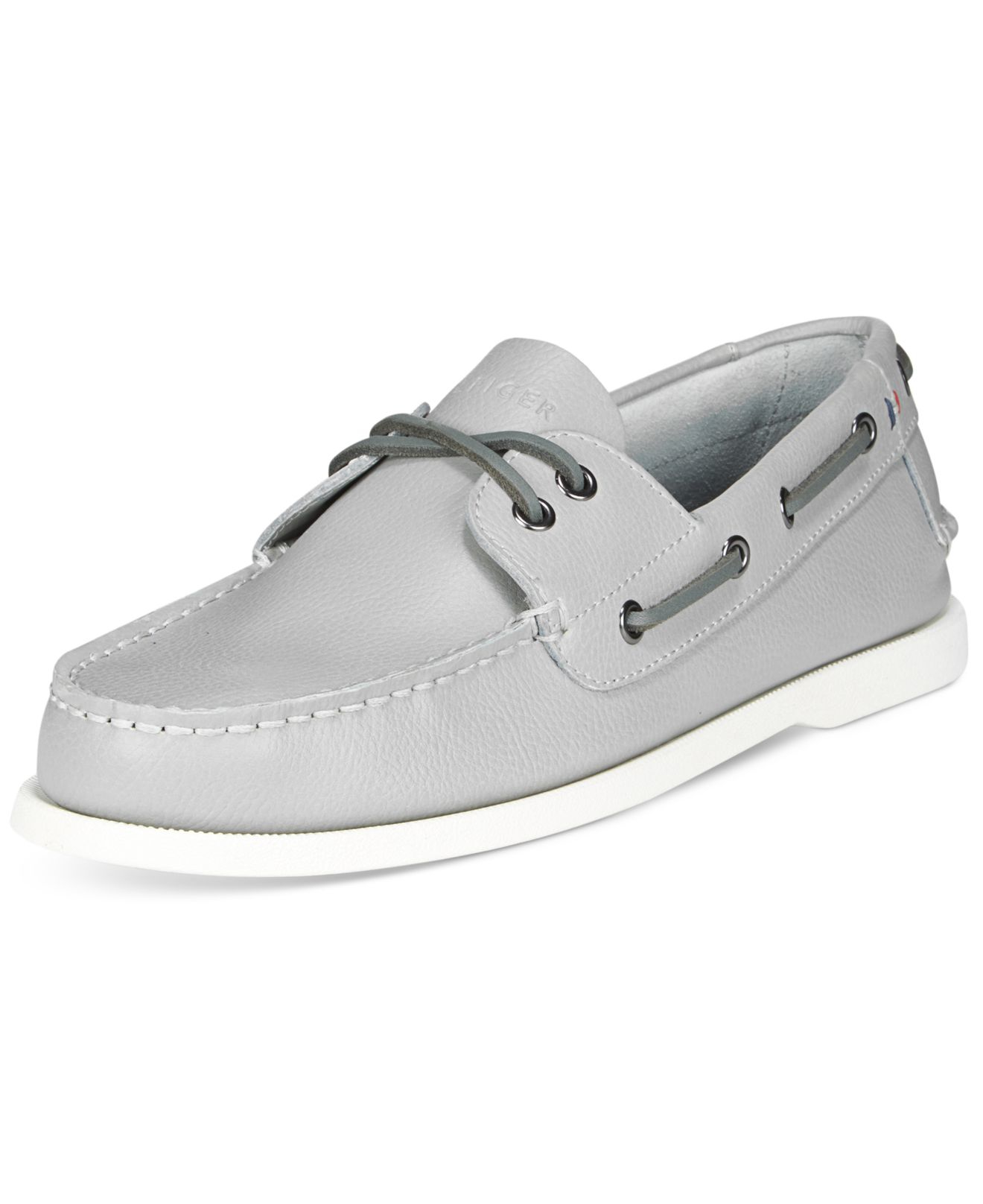 Lyst - Tommy Hilfiger Men s Bowman Boat Shoes in Gray for Men 583cfac3353b