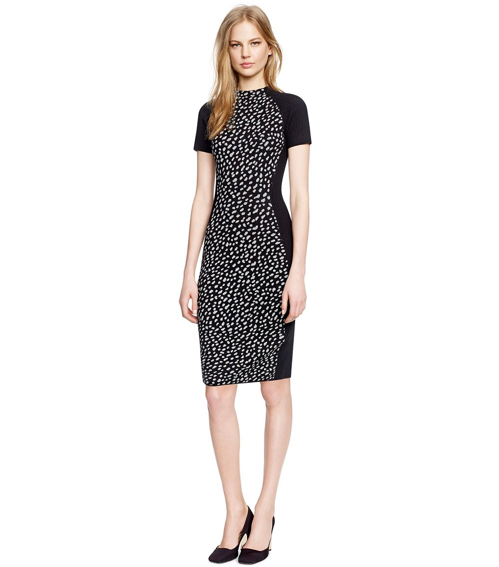 Lyst tory burch jumper dress in black for Tory burch fashion island
