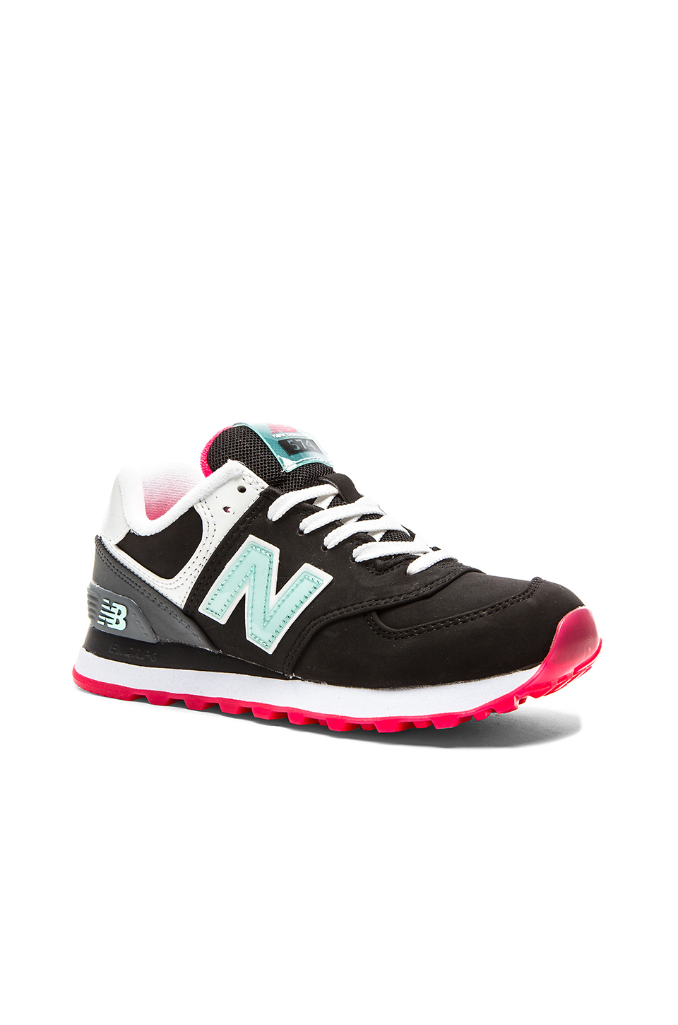 New balance 574 Glacial Collection Sneaker in Black | Lyst