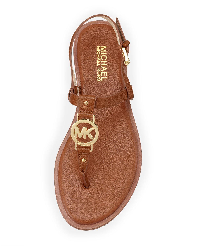 Lyst Michael Michael Kors Sondra Logo Sandal In Brown