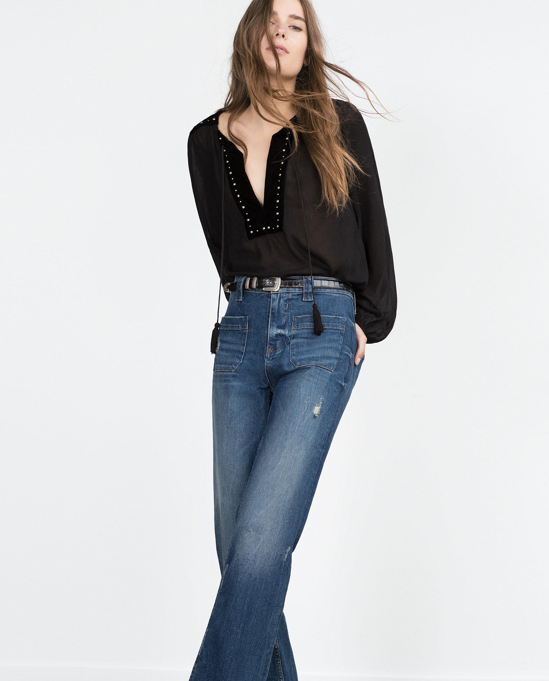 Women'S Velvet Blouse 112