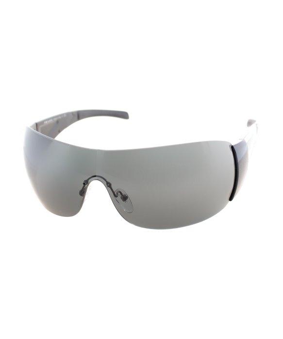 Prada Shield Sunglasses  prada linea rossa ps 07hs 1ab1a1 gloss black shield sunglasses