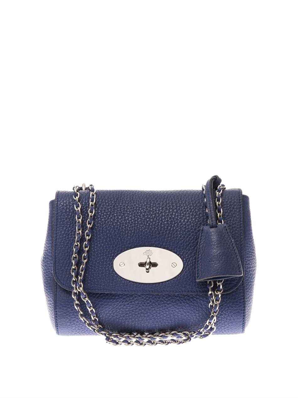 4fab892e1cc9 ... norway lyst mulberry lily leather shoulder bag in blue 8e734 f0c29
