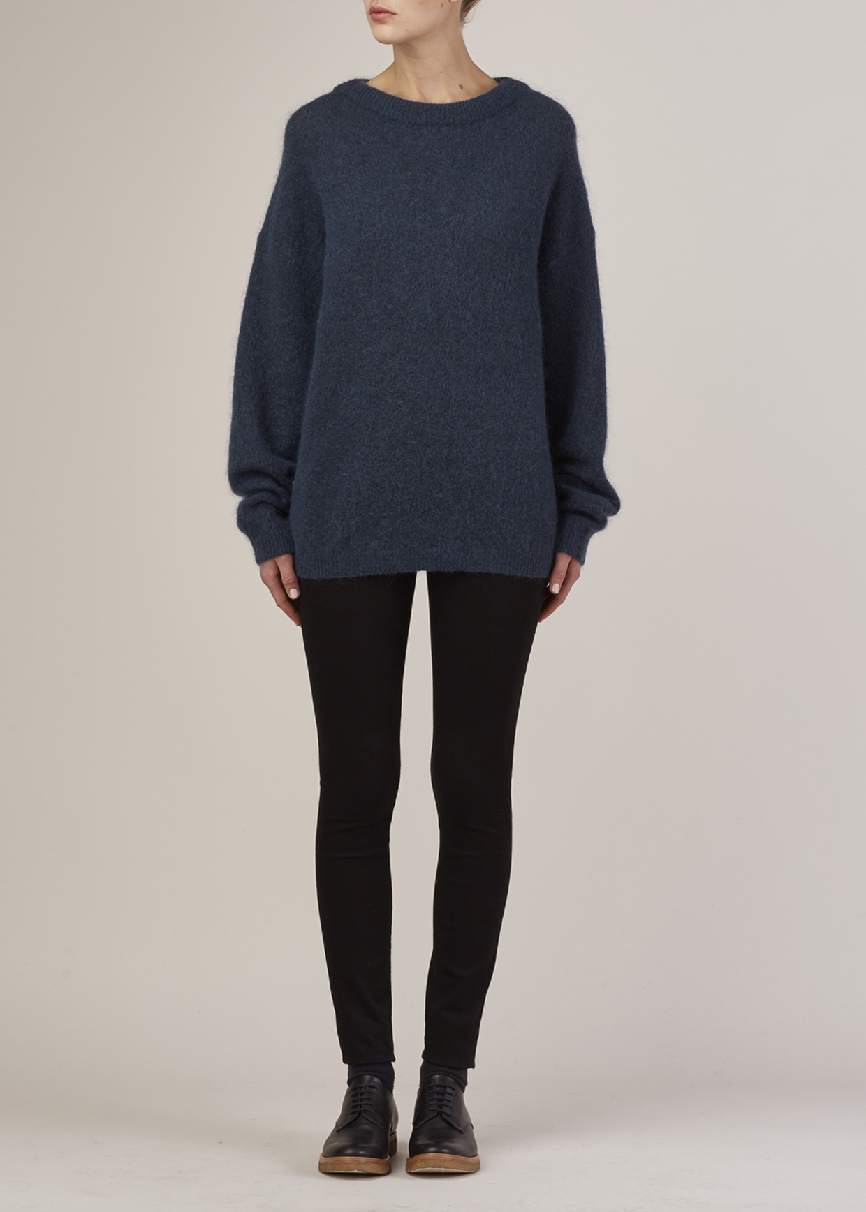 acne studios dusty blue dramatic mohair pullover in blue lyst. Black Bedroom Furniture Sets. Home Design Ideas