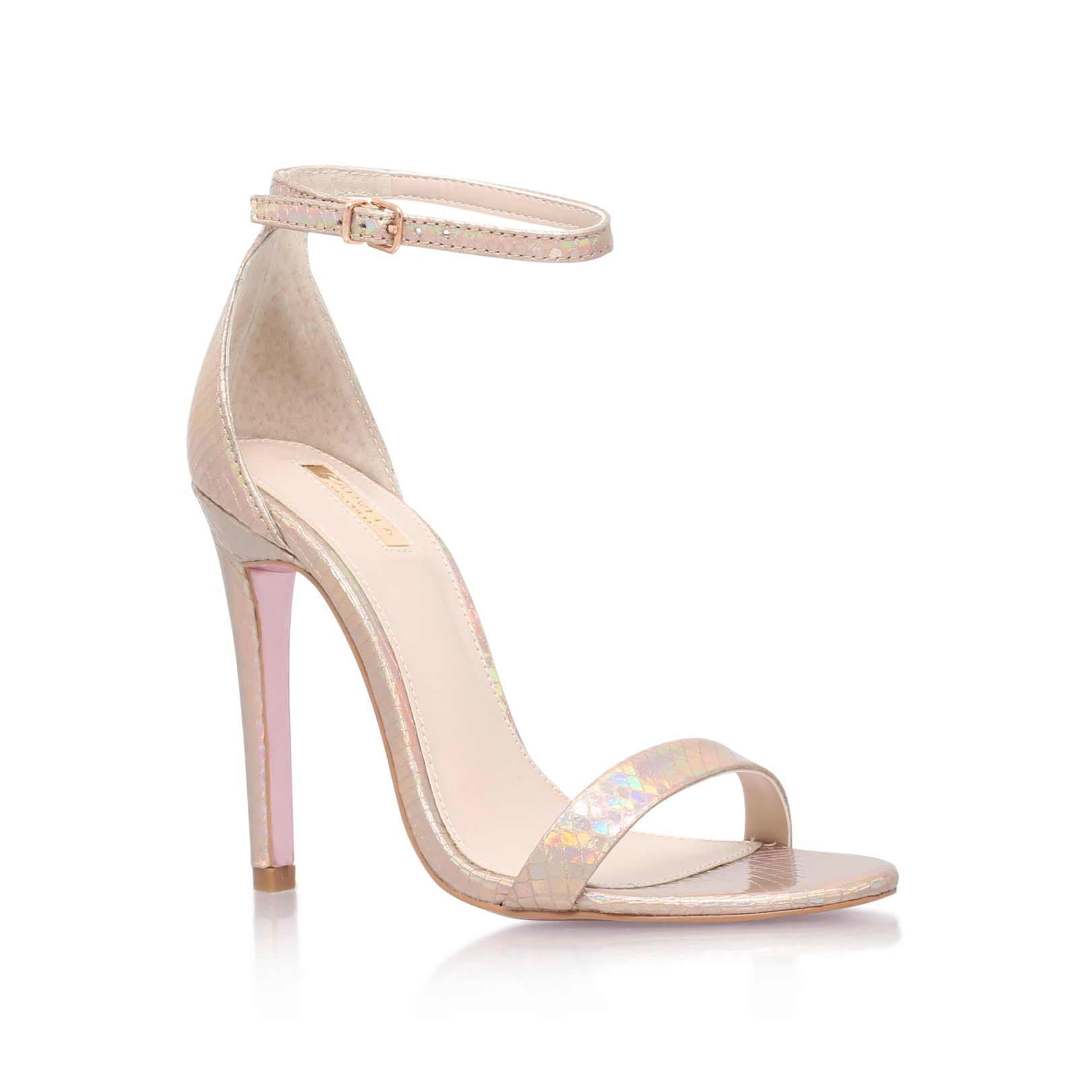 c93ed1a7482 Lyst - Carvela Kurt Geiger Gatsby High Heel Sandals in Metallic