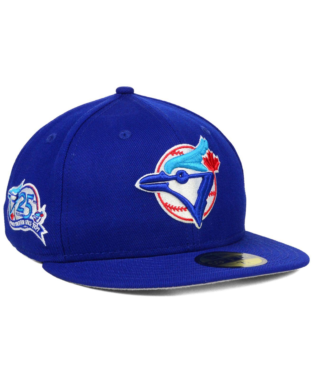 dace17faff7 ... sweden lyst ktz toronto blue jays anniversary patch 59fifty cap in blue  3c85a 37ec8